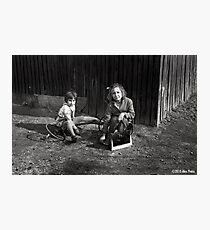 Childhood In Black And White Photographic Print