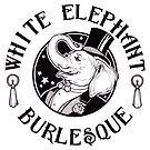 White Elephant Burlesque Logo (Thicker Stroke for Darker Backgrounds) by weburlesque