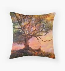 Sunset at Fox Mountain Throw Pillow