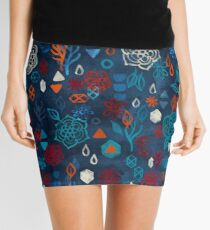 Earth, Water, Fire, Air - a watercolor pattern Mini Skirt