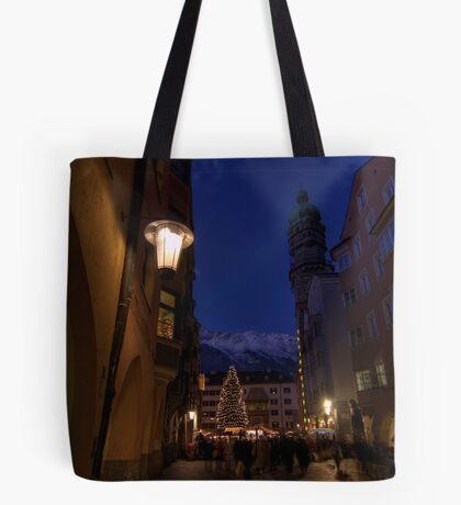 when christmas comes to town Tote Bag