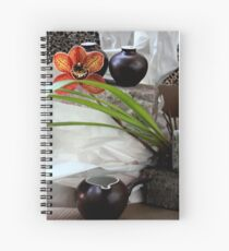 Salt And Pepper With Cream Spiral Notebook