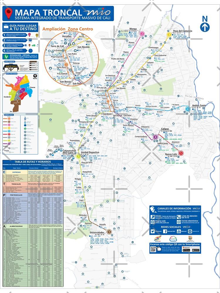 Colombia - Cali - System Map - HD   Baby One-Piece on port of spain map, curitiba map, ljubljana map, the midwest map, punta del este map, antalya map, caracas map, la paz map, mar del plata map, cordoba argentina map, cordillera occidental map, venezia map, belo horizonte map, oslo map, cochabamba map, bratislava map, izmir map, hcmc map, recife map, zagreb map,