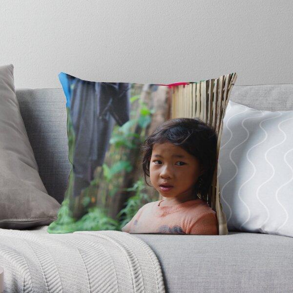 Hmong Girl Throw Pillow