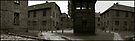 Auschwitz I Roll Call Hut (panoramic) by Peter Harpley