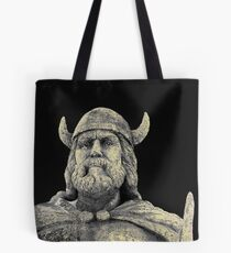 dark viking portrait Tote Bag