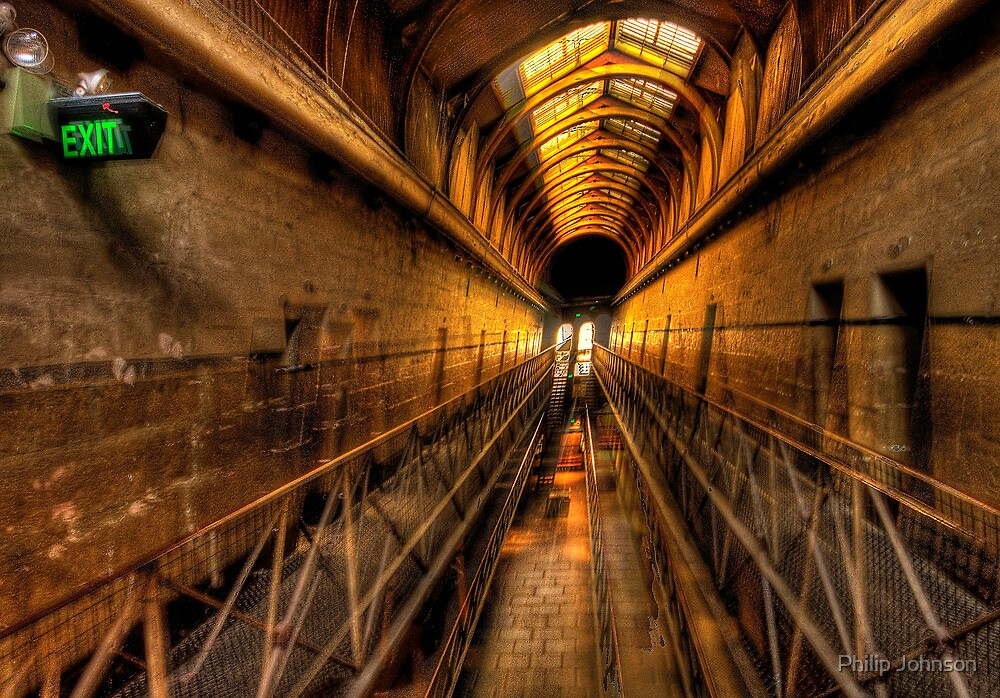 This Way Out - Old Melbourne Gaol c1839, Melbourne Victoria by Philip Johnson