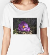 The First Crocus Celebrating Spring Women's Relaxed Fit T-Shirt
