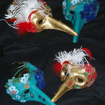 venetian masks by mariemagnusson