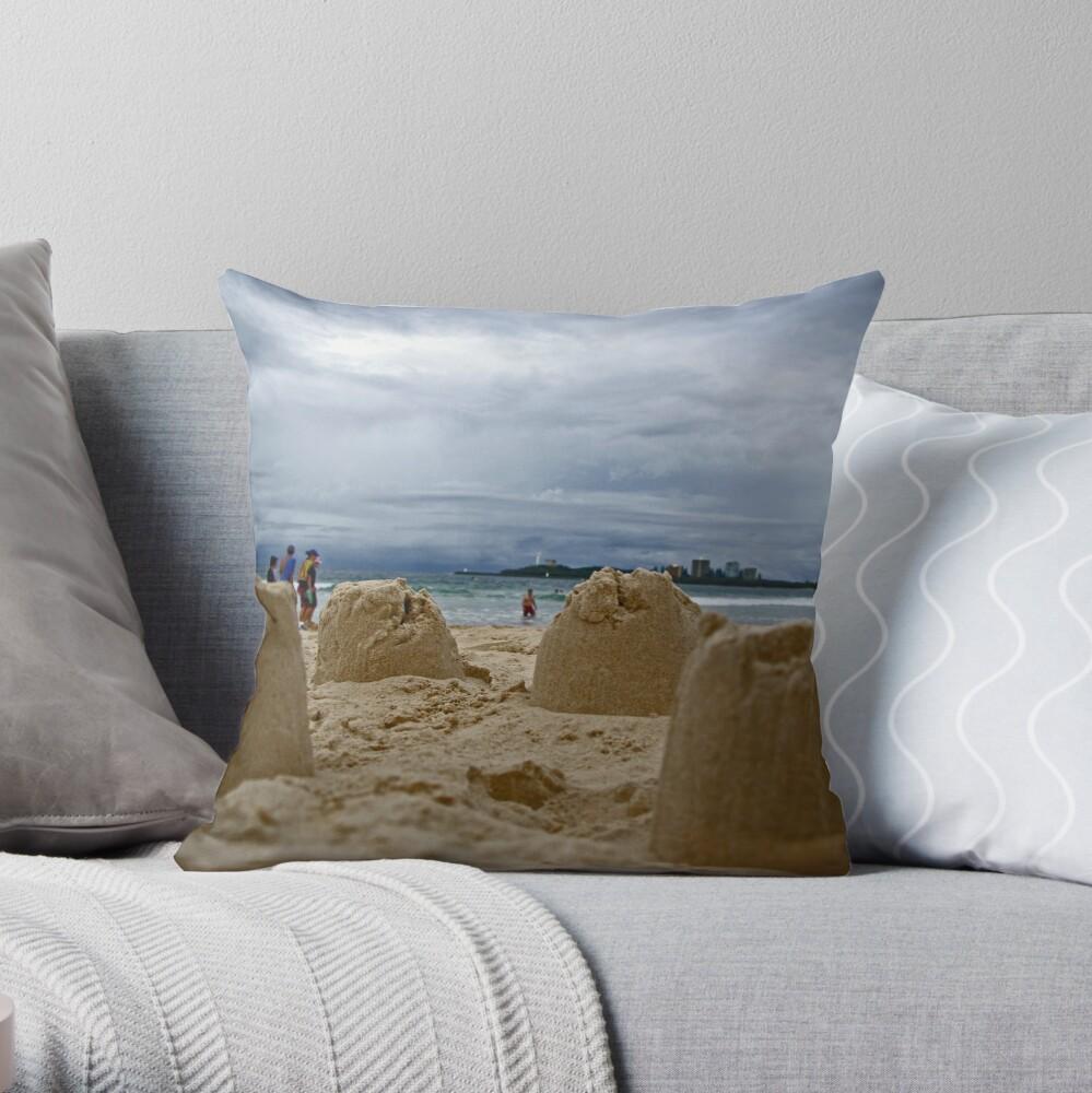 Sand Castles Throw Pillow