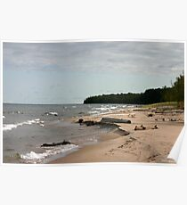 lake superior shore line Poster