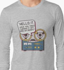 IT Crowd Inspired - Hello IT - Turn it Off and On Again - Tech Support Parody T-Shirt