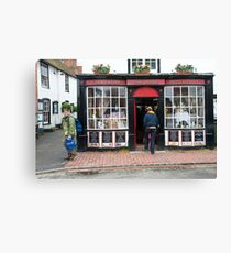 Post Office: Alfriston Village, East Sussex, England, UK. Canvas Print