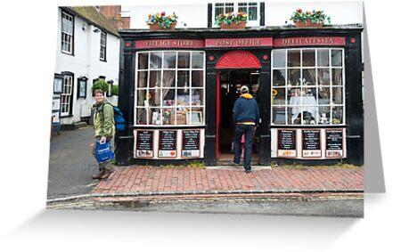 Post Office: Alfriston Village, East Sussex, England, UK. by DonDavisUK