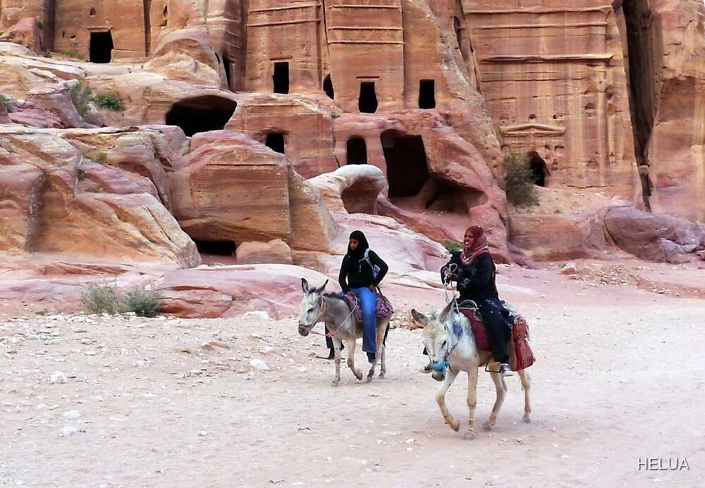 Beduin Riders of Petra by HELUA