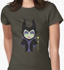 Chibi Maleficent Womens Fitted T-Shirt
