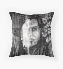 self portrait as sung by morrison Throw Pillow