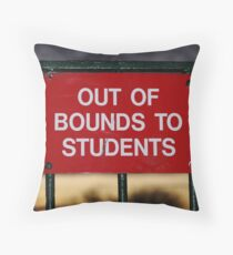 clear off Throw Pillow