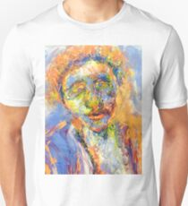 Abstract Mixed Media Portrait T-Shirt