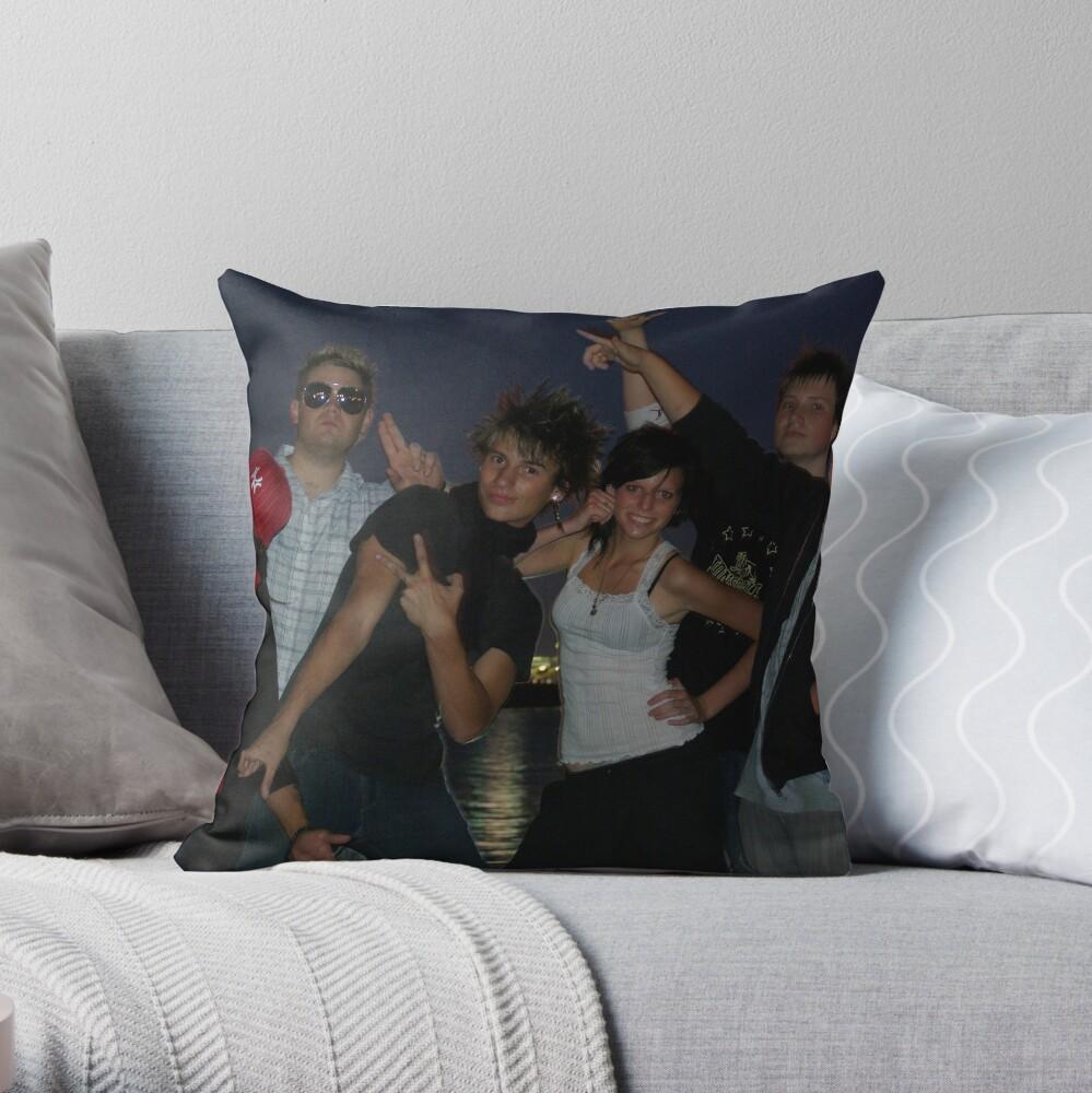 Friday Night Crew Throw Pillow