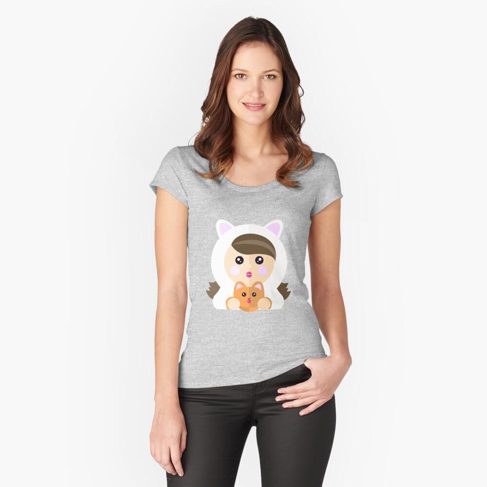 Soy una ladycat Camiseta entallada de cuello ancho