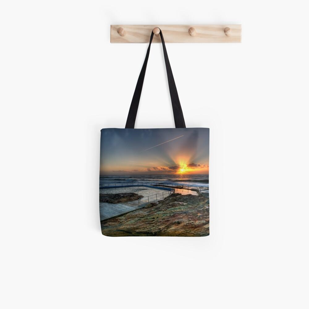 Sunlit Jetstream - South Curl Curl Sunrise Tote Bag
