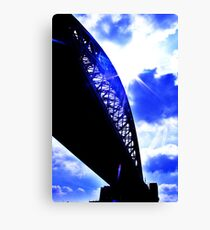 contrast between the bridge and the sky :D Canvas Print