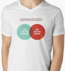 Advantages to both - Disco Ball Variant Mens V-Neck T-Shirt