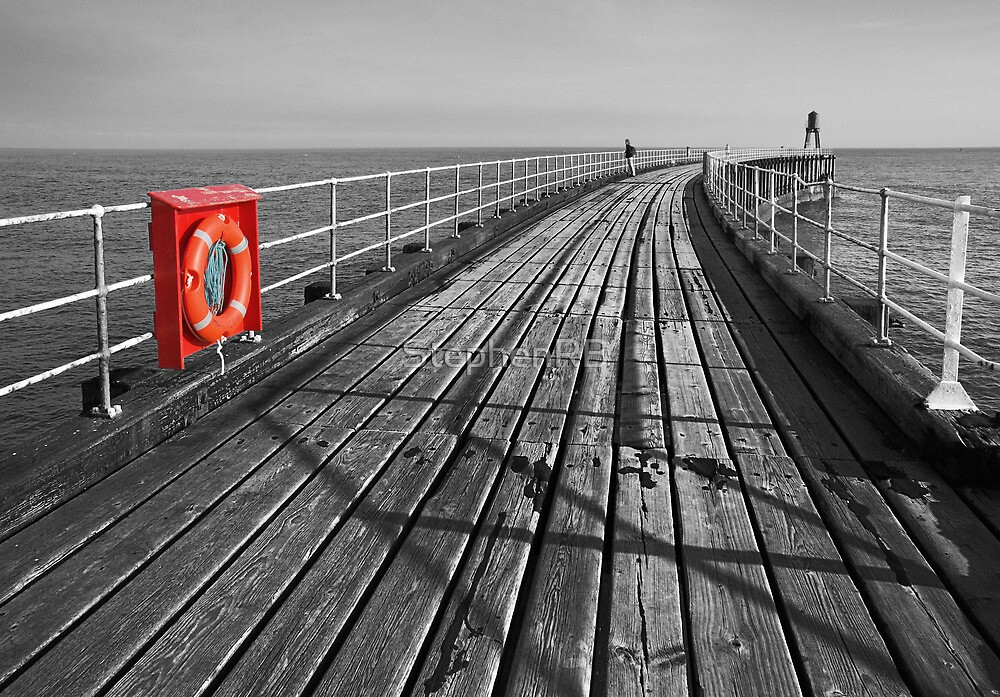 Along Whitby pier by StephenRB