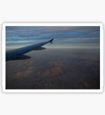Flying Over the Mojave Desert at Dawn Sticker