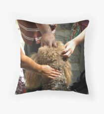 Multicultural Hands Throw Pillow