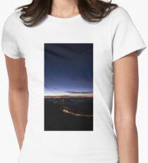 Beyond Last Light -- Mitchell Ridge Lookout -- MOUNT VICTORIA, NSW, Australia Women's Fitted T-Shirt