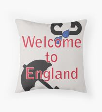 Welcome to England! Throw Pillow
