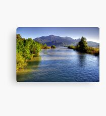 River at High Level Canvas Print
