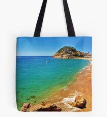 Tossa Beach - Tossa de Mar, Spain Tote Bag