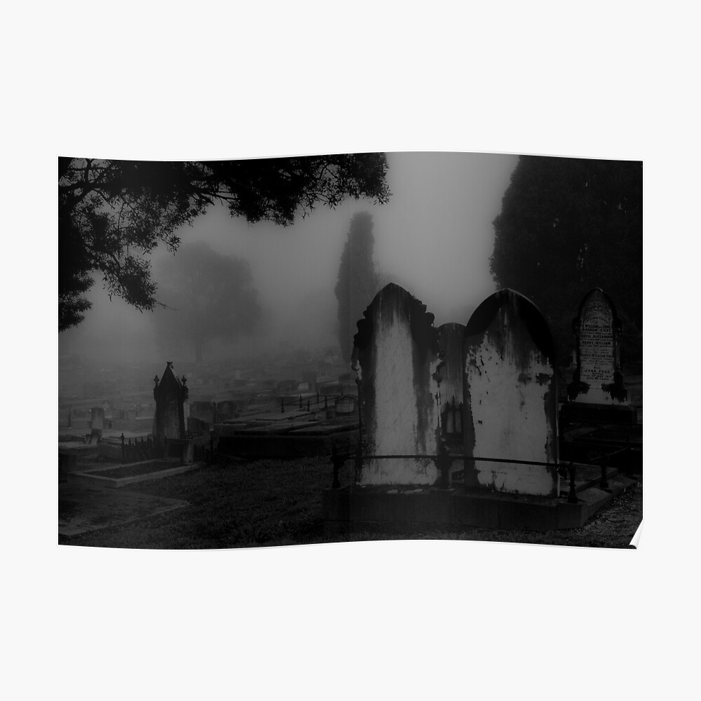 Cemetery Atmosphere Poster
