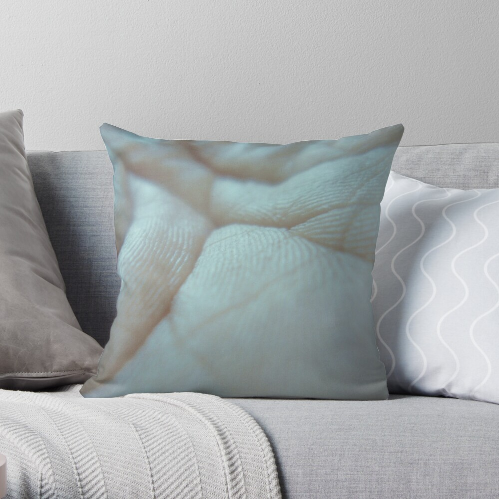 the world of my hand Throw Pillow