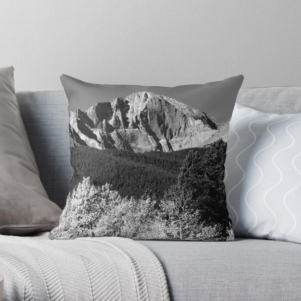 Longs Peak 14,259' Throw Pillow