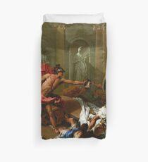 Sebastiano Ricci Perseus Confronting Phineus with the Head of Medusa Duvet Cover