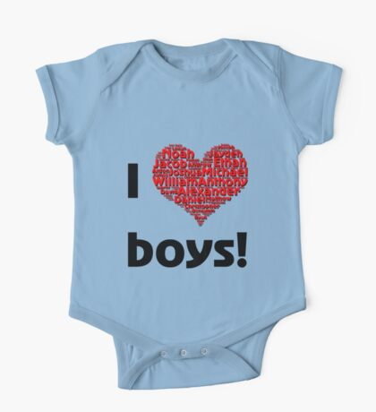 I love boys (T-Shirt & iPhone case) Kids Clothes