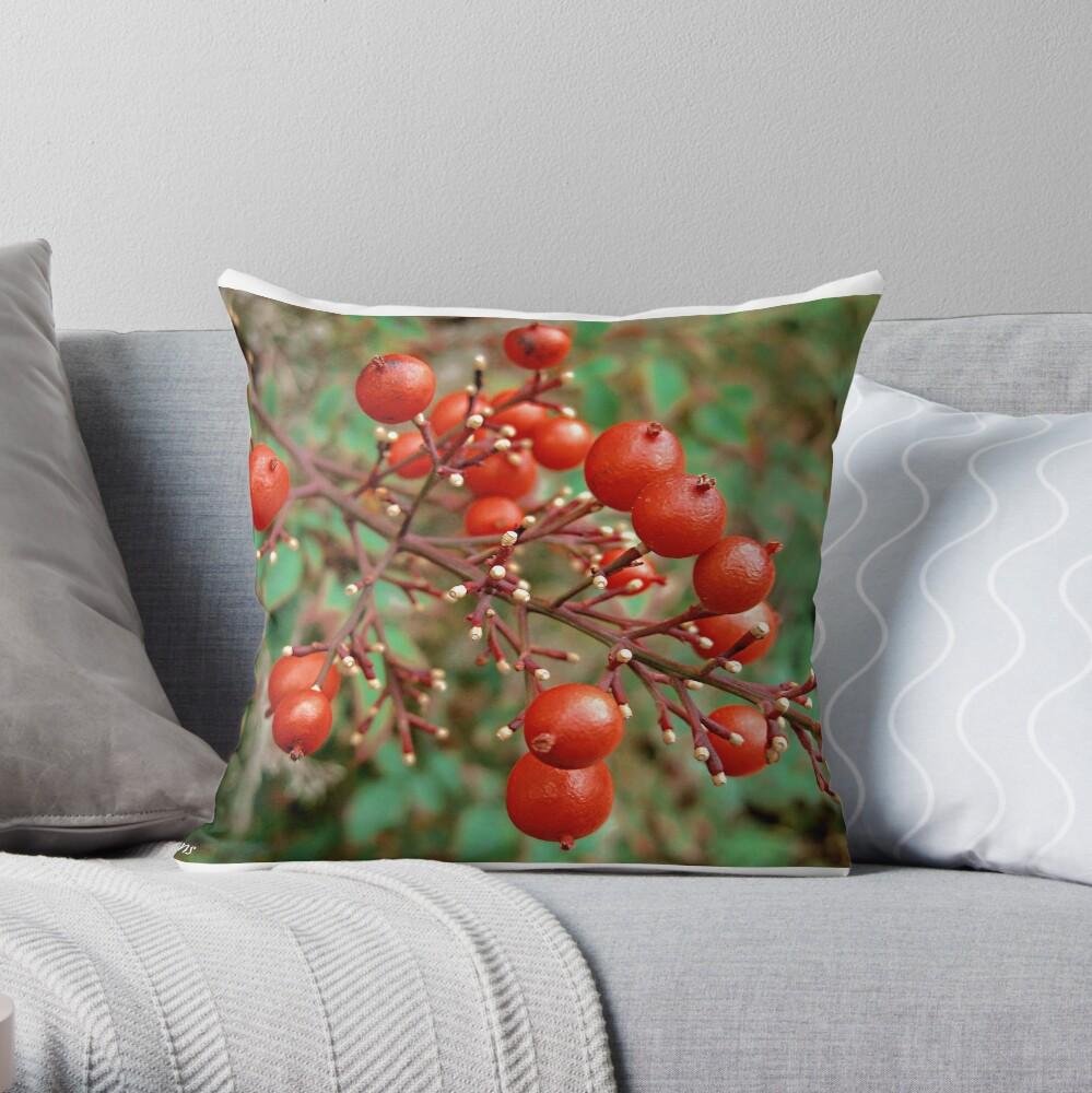 Winter Berries Throw Pillow