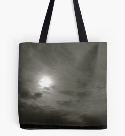 Winter Moon Over Michigan Tote Bag