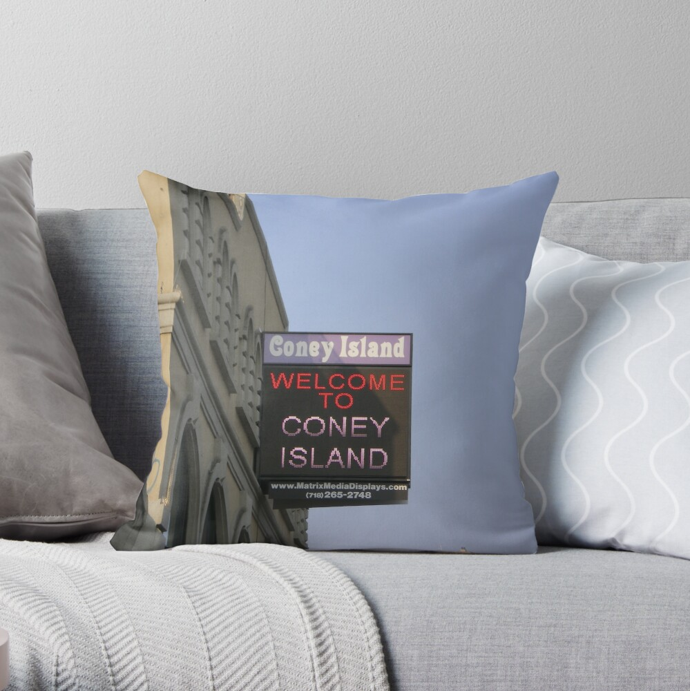 Coney Island Throw Pillow