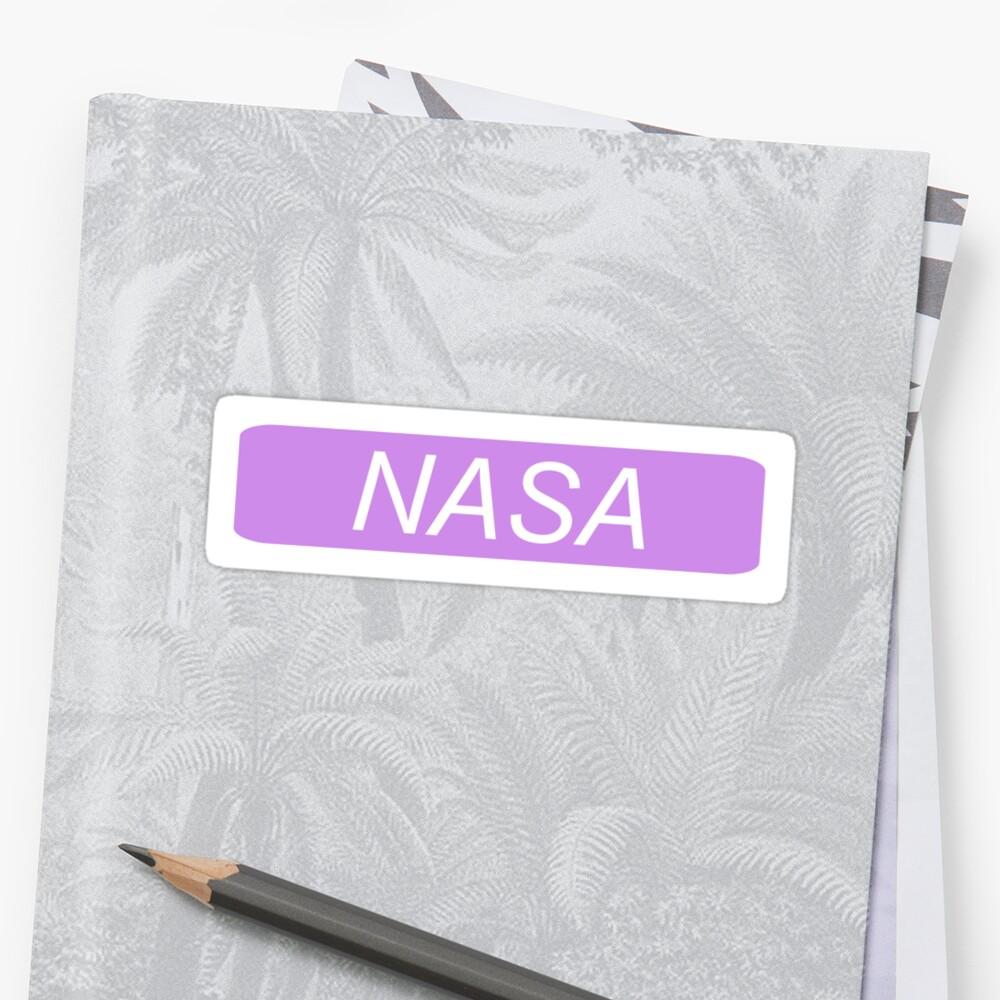 NASA - Danke, als nächstes Sticker