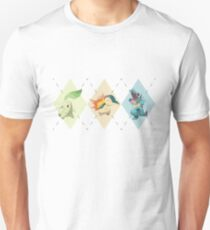 Pokemon Low Poly - 2nd Gen Starters T-Shirt