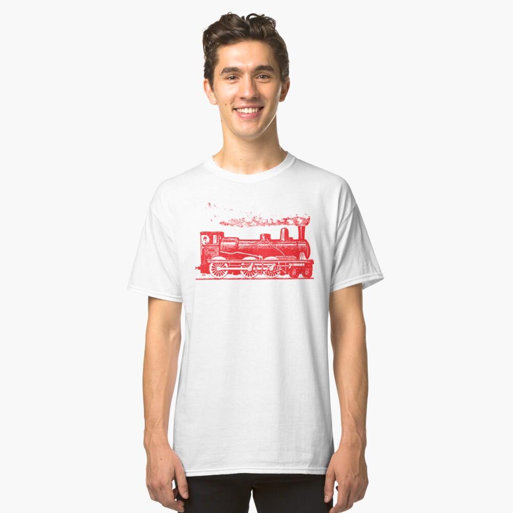 Vintage European Train A1  RED (127) Classic T-Shirt