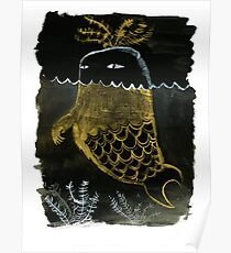 Monster Sea Weed Fish Poster