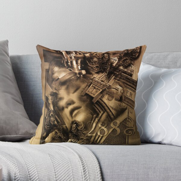 Connected Remix Throw Pillow