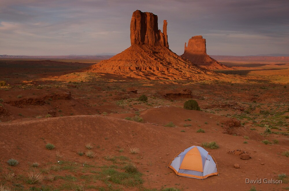 Quot Monument Valley Camping Quot By David Galson Redbubble