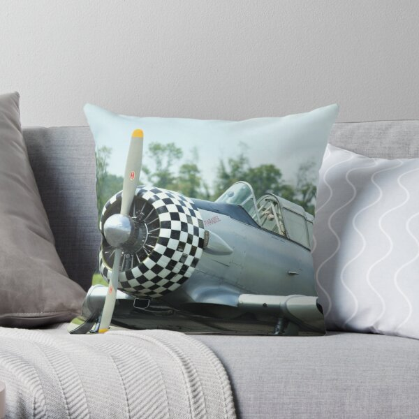 WW II training plane, Paradise Throw Pillow